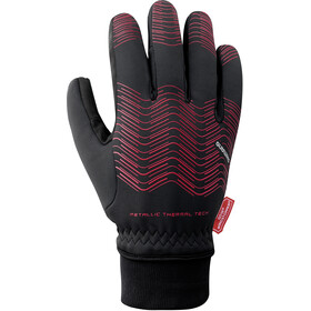 Shimano Windstopper Thermal Reflective Gloves Men red